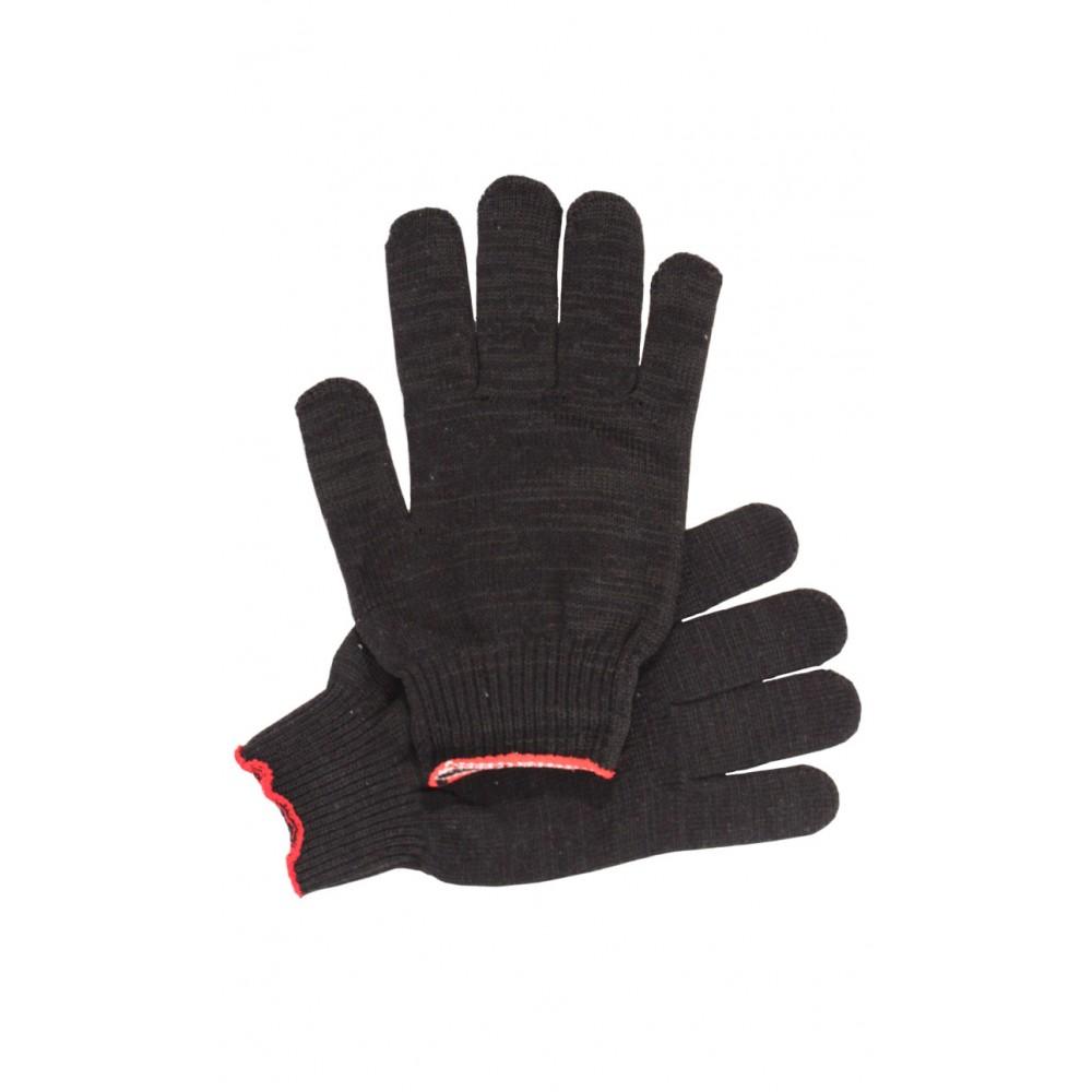 Перчатки рабочие без ПВХ 10-й класс чёрные 5-и нитка